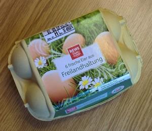 Eierverpackung Freilandhaltung